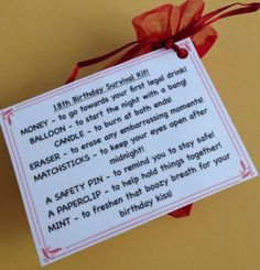 21st Birthday Survival Kit! Fun, Novelty Gift! in Other Celebrations & Occasions