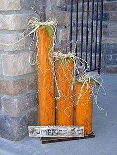 Someday Crafts: Landscape Timber Pumpkins