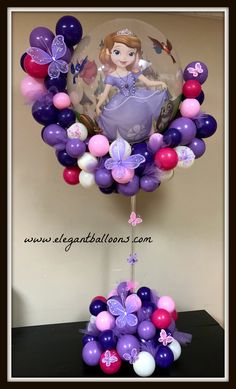 Princess Sofia Centerpiece by Elegant Balloons