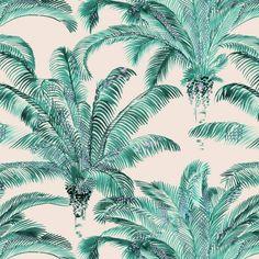 Bahia Emeraude textile by Inkfabrik for Thevenon