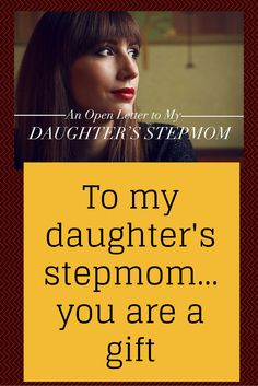 An open letter to my daughter's stepmom...so touching! Made me cry!