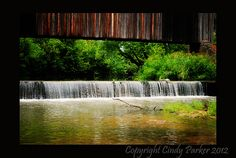 Covered bridge at Bollinger Mill in Missouri.