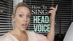 How To Sing: Head Voice - Evynne Hollens Singing Lessons, Singing Tips, Vocal Lessons, Music Lessons, Art Lessons, Vocal Warm Up Exercises, Vocal Warmups, Singing Techniques, Vocal Training