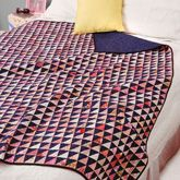 Easy Quilt kit using scrappy pink and blue fabric.  Scrap Quilt.  Throw sized quilt.