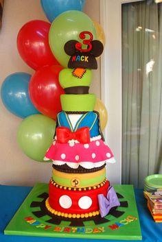 Bright tier Cake