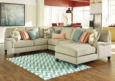 Kerridon Putty Right Arm Facing Chaise End Sectional, /category/living-room/kerridon-putty-left-facing-chaise-end-sectional.html