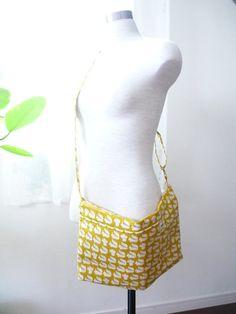 donna grande messaggero borsa kawaii bosco giallo di malmokkobags
