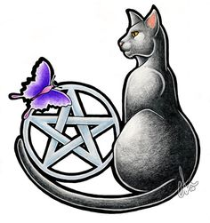 This would be an awesome tattoo if only instead of a butterfly it was a striped cat on the other side (like my kitten) to match my kiddos (I also have a small black kitten, they are brothers)