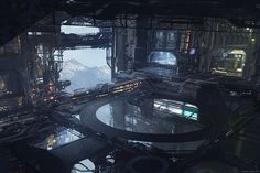 The Digital Sci-Fi Concept Art of Geoffroy Thoorens | Djahal Art - This Is Cool