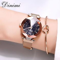 Dimini Women Watches Magnetic Strap Lady Watch Mesh Belt Starry Dial Dress Watch Luxury Quartz Wrist Watches Gifts From Touchy Style Outfit Accessories ( Rose Gold ) |Cute Phone Cases |Casual Shoes| Cool Backpack| Charm Jewelry| Simple Cheap Watches, and more.