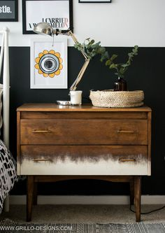 A Mid Century Dresser Makeover - In 5 easy Steps! A mid century dresser makeover 'tutorial' sharing the 5 basic steps on how to refinish, restore and upcycle vintage furniture. Diy Furniture Hacks, Repurposed Furniture, Furniture Making, Vintage Furniture, Painted Furniture, Home Furniture, Furniture Design, Furniture Stores, Refurbished Furniture