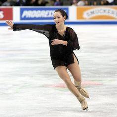 Elizaveta Tuktamisheva, Ladies short at Skate America 2014, Black Figure Skating / Ice Skating dress inspiration for Sk8 Gr8 Designs.