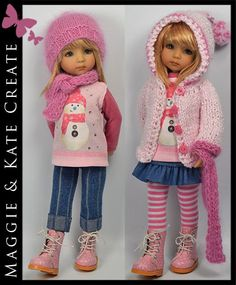 """BIN $135.00.  PINK Winter Outfit for Little Darlings Dianna Effner 13"""" by Maggie & Kate Create"""