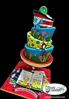 Dr Seuss Mitzvah by Truly Custom Cakery, LLC (3/17/2013) View details here: http://cakesdecor.com/cakes/53433