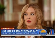 Perfect timing: The album was released on Friday — just six days before the anniversary of Elvis' death at age 42 Lisa Marie Presley, Perfect Timing, Today Show, Elvis Presley, Drugs, Interview, Friday, Anniversary