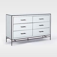 Mirrored 3-Drawer Dresser | West Elm