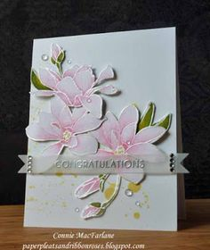 Paper Pleats and Ribbon Roses: Magnolia Wedding Wishes - Altenew's Magnolia's For Her, Watercolor
