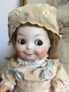 RARE Vintage Antique Mystery Googly Eyed Doll Armand Marseille Kestner Type