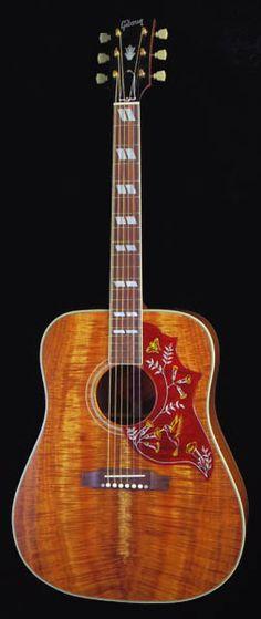 "Gibson Custom Order Model 1960s Hummingbird Koa/Flame Mahogany ""Factory Selected Wood"""