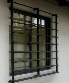 Modern Window Design, Window Grill Design Modern, Balcony Grill Design, Grill Door Design, Door Gate Design, Iron Windows, Windows And Doors, Window Security Bars, Modern Entrance Door
