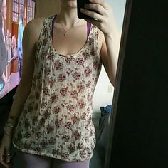 Free people floral tank Free people cream floral tank, pilling near underarm areas some snags and small holes see pic 3 adds to boho vibe, still super comfy and cute  ??Ask for an extra bundle discount the more items the greater the discount ??? ?? No Paypal ?? NoTrades ?? No Lowballing Free People Tops Tank Tops