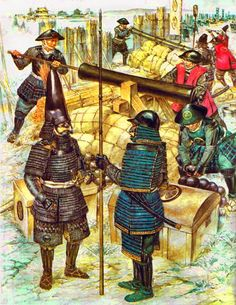 The bombardment of Osaka Castle in 1614 - The brothers Tokugawa Hidetada and Tokugawa Yoshinao discuss Visit page 	 View image