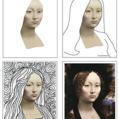 Deluxe Leonardo Line Art Template