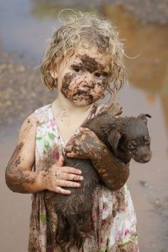 Omg Love this picture of a little girl and her puppy!
