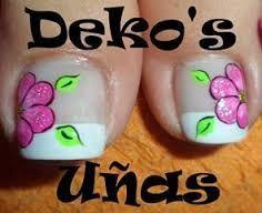 Imagen relacionada Pedicure Designs, Toe Nail Designs, Shellac Pedicure, Wow Nails, French Pedicure, Summer Toe Nails, Easter Nails, Feet Nails, Cute Nail Art