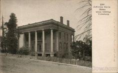 Undivided Back Postcard Jefferson Davis Home Vicksburg, MS Vicksburg Mississippi, Abandoned Plantations, Jefferson Davis, Southern Mansions, Vintage House Plans, Antebellum Homes, Plantation Homes, Southern Style, Diy Videos