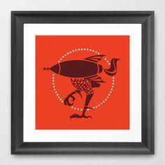 Rocket to the Chicken Coop Art Print