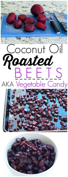 400 for Coconut Oil Roasted Beets recipe. I like to call these beets Vegetable Candy! They are perfect sweet and caramelized. I could eat the whole bowl myself! Beets have amazing detox properties--this is a great way to eat them! Veggie Recipes, Whole Food Recipes, Cooking Recipes, Grilling Recipes, Roasted Beets Recipe, Sweet Beets Recipe, Best Beet Recipe, Roasted Beet Salad, Bon Appetit