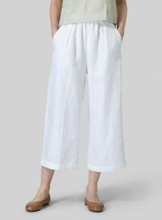 dc6a31a963a Linen Straight Cropped Pants Miss Me Outfits