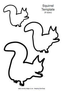 Squirrel template 1