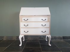 Restyled writing desk in Blackened with white-wash to the top and sides. Reloved by Jo for Jolaru. Bespoke Furniture, Furniture For You, Upcycled Furniture, Mineral Paint, Farrow Ball, Writing Desk, Beautiful Interiors, Home Accessories, Interior Design