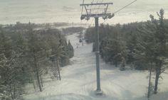 Vue de la cabine, Massif de Charlevoix, Québec, février 2014 Snow, Outdoor, Cabin, Outdoors, Outdoor Games, Human Eye
