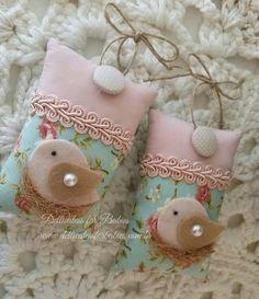 Sachê passarinho Shabby - Dellicatess for Babies
