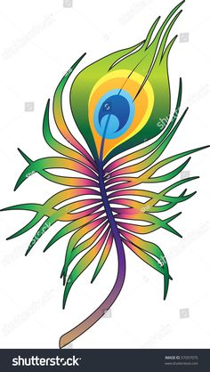 stock-vector-beautiful-peacock-feather-tattoo-in-colors-of-rainbow-with-black-contour-57097075.jpg (902×1600)