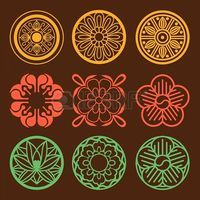 Flower and Plant Pattern Design. Korean traditional Pattern is..