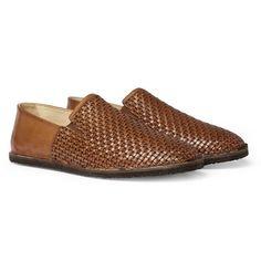 Armando CabralBula Woven-Leather Slip-On Shoes