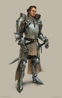 Chroniques oubliées Fantasy by Aurore Folny - The Art Showcase Fantasy Male, Fantasy Armor, Medieval Fantasy, Medieval Armor, Dungeons And Dragons Characters, Dnd Characters, Fantasy Characters, Fantasy Figures, Fantasy Inspiration