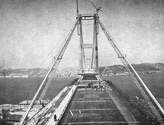 construction of the Bosphorus Bridge - ISTANBUL