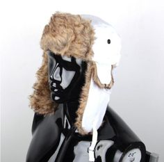 1 pcs WHITE Russian Trapper Aviator Trooper Earflap Hat USA Seller FREE Shipping