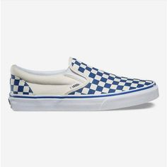 Vans Primary Check Slip-On Shoes ($50) ❤ liked on Polyvore featuring shoes, sneakers, low top, checkered shoes, checkered sneakers, slip-on sneakers and pull on shoes