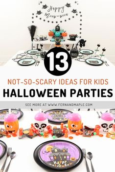 These 13 Halloween Party Ideas for Kids are the perfect combination of spooky and fun without being too scary. Find a fun theme for kids of any age now at fernandmaple.com!