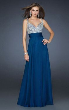 La Femme16802 Sparkly Long Navy Homecoming Dress2012