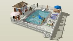 Large preview of 3D Model of A Day at the Pool