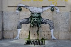 By Levalet in Paris, France. First photo by lepublicnme. Click on a photo to see it bigger.