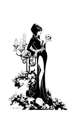 Elvira, Mistress of the Dark by Chris Bachalo and Tim Townsend Comic Art