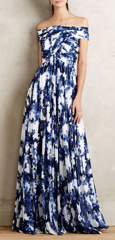 Valla Gown I really like this type of print.